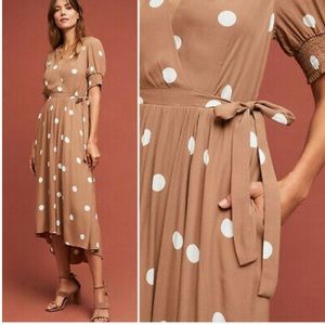 Anthropologie Breanna Polka Dot Dress